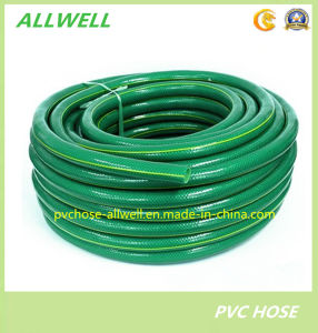 Green PVC Plastic Braide Reinforced Fiber Netting Water Garden Hose pictures & photos