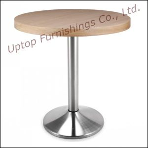 Round Wood Cafe Restaurant Coffee Shop Table (SP-RT412) pictures & photos