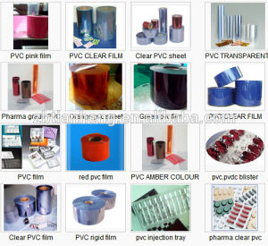 Pharma Grade Rigid Transparent Clear Plastic Film PVC