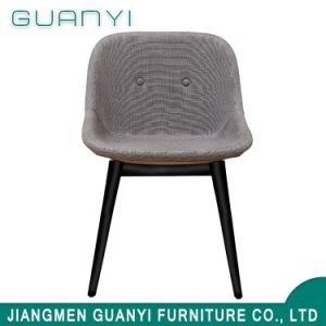 Chair Furniture Simple Modern Design Iron Metal Frame Leg PU Fabric Foam Restaurant Dining Chair pictures & photos