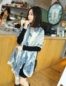 Spring Autumn Fashion Long High Copy Silk Scarf pictures & photos