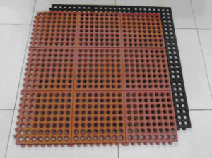 Anti Fatigue Colorful Drainage Rubber Kitchen Mat Rubber Door Mat pictures & photos