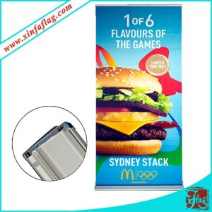 Advertising Display Pull up Banner with Aluminium Frame pictures & photos