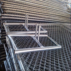 6′x10′american Galvanised Chain Link Temporary Mesh Fence Panels pictures & photos