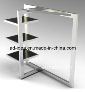 Foldable Stainless Steel Clothes Hanging Rack/Exhibition for Garment (GDS-003) pictures & photos