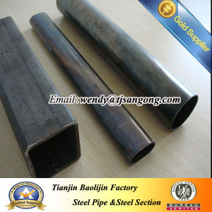 Pure Black Hollow Square Steel Pipe and Round Pipe pictures & photos