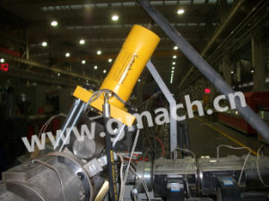 Plastic PVC Profile Extrusion Line Used Special Hydraulic Screen Changer pictures & photos