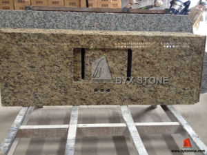 Giallo Ornamental Granite Vanity Top for Bathroom and Hotel pictures & photos