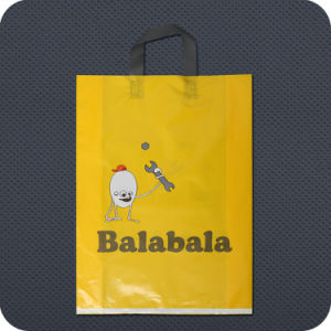 Premium Printed Plastic Shopping Bag with Soft-Loop Handle pictures & photos