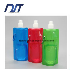Plastic Foldable Water Bottle Light Weight Reusable Folding Water Bag pictures & photos
