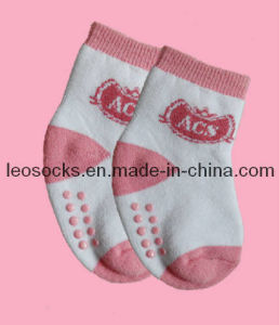 Non-Slip Baby Cotton Socks (DL-CS-32) pictures & photos