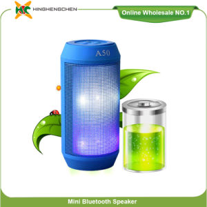 Outdoor Bluetooth Speaker A50 Bluetooth DJ Loud Speaker Car Audio Speaker, Music Box Speaker Ibastek Bluetooth Speaker with LED Light pictures & photos
