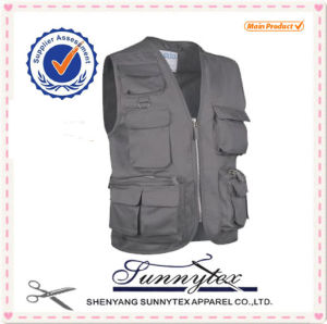 Safety Vest Fishing Vest with Multi Pockets pictures & photos