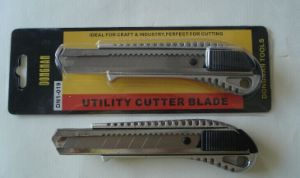 Aluminum Alloy Snap-off Utility Knife, 18mm Safety Cutter Knife pictures & photos