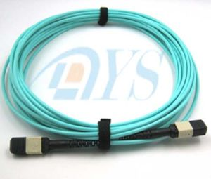 Fiber Optic Om3 MPO-MPO Patch Cord pictures & photos