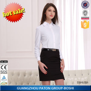 Womens Office Dress Strip Shirt -Dshl016 pictures & photos