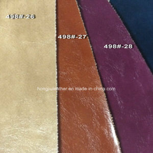 Soft Faux PU Leather for Decorative & Furniture (HONGJIU-498#) pictures & photos