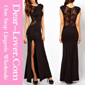 Lace Back and Fishtail Long Fashion Dress for Women Clothes pictures & photos