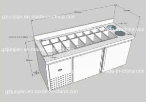 Customized Commercial Stainless Steel Work Table Refrigerator Chiller pictures & photos