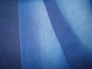 Cotton Polyester Stretch Twill Denim Fabric Indigo Blue pictures & photos