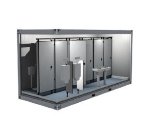 Mobile Folding Container House for Highway Toilet pictures & photos