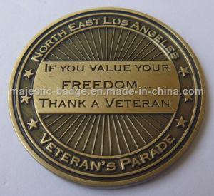 Customized Brass Die Struck Antique Bronze Plating Coins pictures & photos