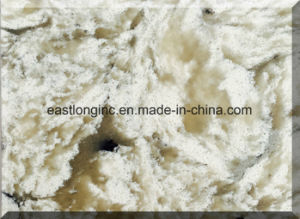 Beige Color Artificial Quartz Stone Slabs / Artificial Marble Engineered Flooring Stone pictures & photos