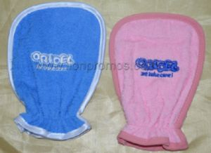 Baby Diaper Milk Promotional Gift Cotton Bathing Glove pictures & photos