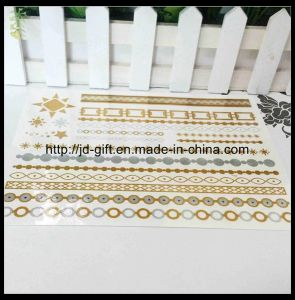 2014 New Fashion Waterproof Tattoo Sticker, Gold & Silve Mixed Tattoo Sticker, Temporary Tattoo Sticker pictures & photos