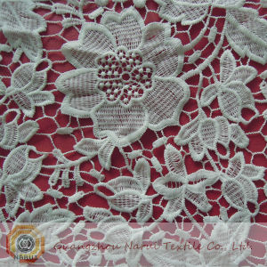 Heavy Chemical Cotton Lace Fabric Wholesale (M0511) pictures & photos