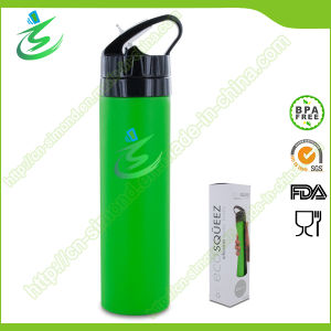 600ml BPA Free Silicone Foldable and Collapsible Water Bottle, Sports Water Bottle, Soft Water Bottle pictures & photos