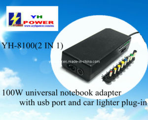2 in 1 Laptop Adapter for Car and Home