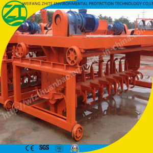 Organic Compost Mixer Turner Machine/Cast Groove Organic Fertilizer Compost Turner pictures & photos