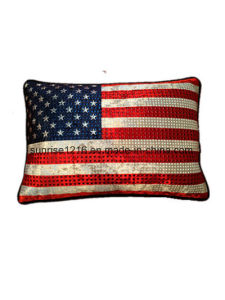 Decorative Cushion Sr-C170213-1 High Fashion Metaled Velvet Cushion pictures & photos