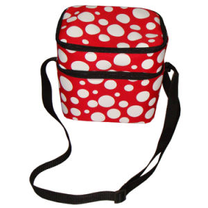Lady Two Layer Shoulder Picnic Can Cooler Bag pictures & photos