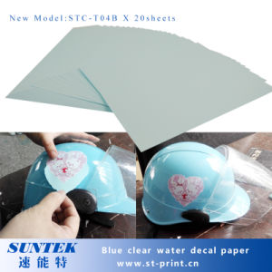 Blue Based Clear Inkjet Water Slide Decal Transfer Printing Paper pictures & photos