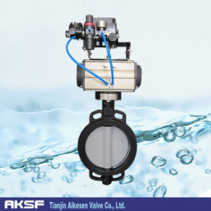 Pneumatic Control Butterfly Valve with Pneumatic Actuator (D671X) pictures & photos