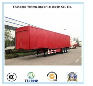 High Quality 40t Van-Type Truck Semi Trailer with 3 Axles pictures & photos