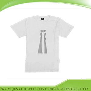 Wholesale Soft White Reflective Elastane T Shirt