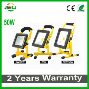 2016 Flat Type 50W 4h Rechargeable LED Floodlight for Camping pictures & photos