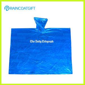 Emergency Hooded Custom Printed PE Rain Poncho Rpe-034 pictures & photos