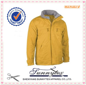 Sunnytex Hot Selling OEM Winter Men Yellow Ski Jacket pictures & photos