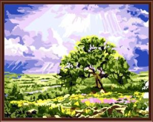 Wholesale SGS CE DIY Digital 40*50 Landscape Framed Oil Painting on Canvas Gx6145