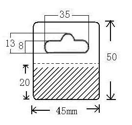 Plastic Hang Tabs, PVC Tags (I-455020B)
