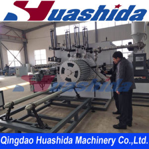HDPE Double Wall Steel Reinforced Pipe Extrusion Line pictures & photos