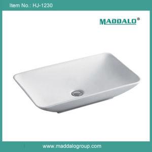 Rectangular Bathroom Sinks on Hot Sale Bathroom Above Counter Rectangular Ceramic Basin Sink  Hj