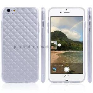 Rhombus Transparent TPU Case for iPhone 6 Plus 5.5inch pictures & photos