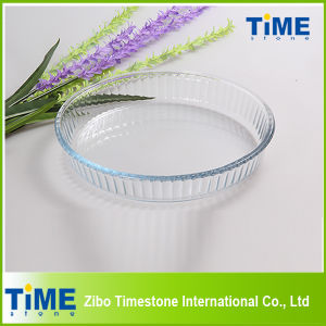 Round Shape High Borosilicate Glass Baking Plate pictures & photos