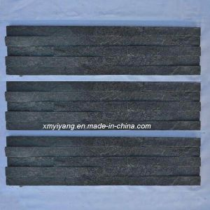 Black Slate Tile, Stack Stone for Wall Cladding pictures & photos