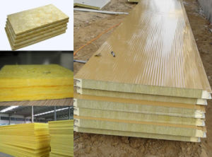 Low Cost Glass Wool Sandwich Wall Panel Manufacture pictures & photos